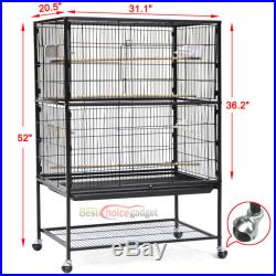 20.5 x 31.1 x 52 Bird Parrot Cage Chinchilla Cockatiel Conure Large House New