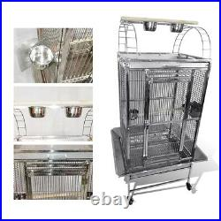 24x22x60 Stainless Steel SUS201 Play Top Style Bird Macaw Cage Parrot Cage