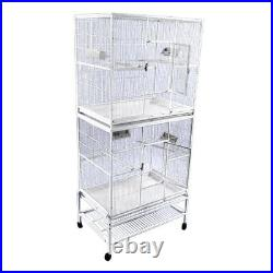 32x21 Double Stack Flight Cage 13221-2 White