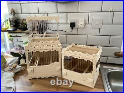 3 Bird Cages Stackable Mule, Finch, Canary