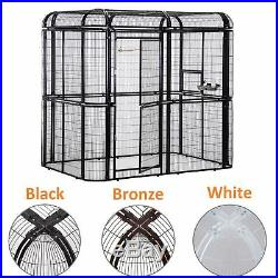 3 Color Large Bird Cage Iron House Pet Parrots Poultry Walk in Aviary Heavy Duty