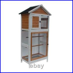 47 in Large Wooden Parrot Cage Bird Cockatiel Cockatiel Macaw Play Dove House