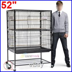52 Bird Parrot Cage Chinchilla Cockatiel Conure Large Cockatiel House With Stand