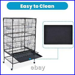52 Folding Extra Large Bird Pet Cage Large Play Top Parrot Finch Cage Macaw US