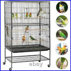 52 High Large Parrot Cage Rolling Metal Bird Cage