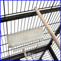 52 Inch Large Black Parrot Bird Cockatiel Parakeet Finch Cage Gym Perch Stand