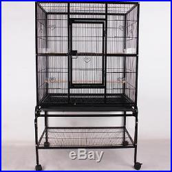 53.5 Bird Pet Parrot Cage Macaw Cockatiel Conure AVIARY Large Easy To Install
