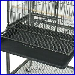 53 Bird Pet Cage Large Play Top Parrot Finch Iron Cage Macaw Cockatoo Indoor