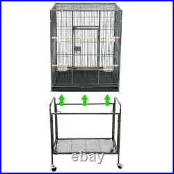 53 Black Parrot Cage Bird for Cockatiel Parakeet Finch Playtop Gym Perch Stand