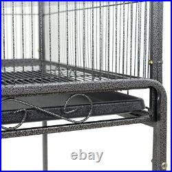 53 Large Bird Pet Cage Large Play Top Parrot Finch Cage Cockatoo Macaw With Door