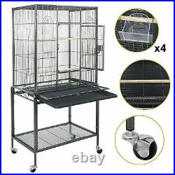 53 Large Bird Pet Cage Large Play Top Parrot Finch Cage Macaw Cockatoo With Door