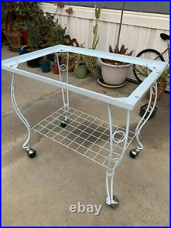 53' Large Rolling Metal Bird Cage with Open Playtop, Stand & Perch White