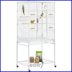 54'' Large Flight Bird Cage for Parakeet Cockatiel Green Cheek Conure with stand