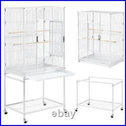 54-inch Flight Bird Cage for Conures Parakeets with Detachable Stand, White