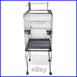 57inch Parrot Finch Bird Cage Cockatoo Play With Stand Top Perch