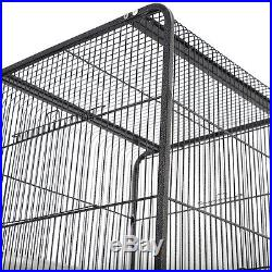 58 Large Parrot Bird Cage Play Top Pet Supplies withPerch Stand Two Doors Flattop