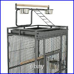 61 Large Bird Cage Play Top Parrot Finch Easy Assemble Cage Pet Supply