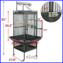 61 Large Bird Cage Top Play Power Coated Steel Best Pet House EZ USE Non Toxic