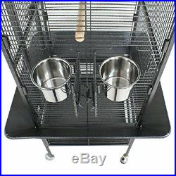 61 Large Bird Play Top Cage and Habitat Parrot Macaw Cockatiel with Stand Wheel
