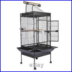 63 Large Cockatiel Parakeet Parrot Finch Budgies Canary Bird Cage With Stand