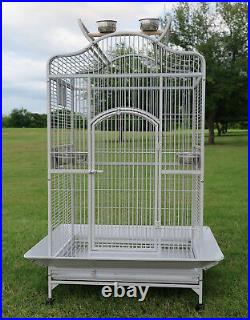 63 Large Dome Top Parrot Cage For Conure Grey Parrots Cockatiels Green Cheek