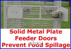 63 Large Open Play Top Bird Parrot Cage Cockatiel Macaw Conure Aviary Finch 152