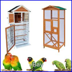 6465 Bird Cage Wooden Parakeet Canary Finch Conure Aviary with Play House