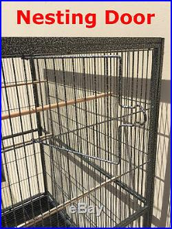64 Large Flight Cage WithStand Bird Parakeet Cockatiel Finch Budgie Cage BLK 468