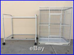 64 Large Flight Canary Parakeet Cockatiel Finch Cage Removable Rolling Stand218