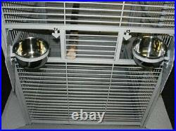 65 Large Open Play Top Bird Parrot Stand Cage For Cockatiel Macaw Conure Finch