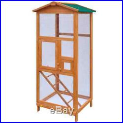 65 Large Pet Bird Cage House Budgie Aviary Wood Wire Mesh Weatherpoof