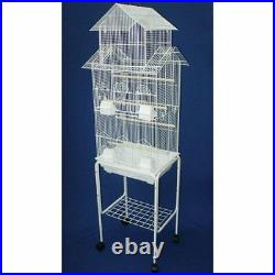 6844 3/8 Bar Spacing Tall Pagoda Top Small Bird Cage With Stand 18x14 In