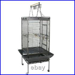68 Bird Cage Large Play Top Parrot Finch Cage Macaw Cockatoo Pet Supply