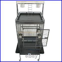 68 Large Bird Parrot Cockatiel Cage House withStand 5 Cups Good for Keeping Bird