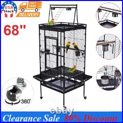 68 Large Bird Parrot Open PlayTop Cage Cockatiel Macaw Conure Aviary Finch Cage