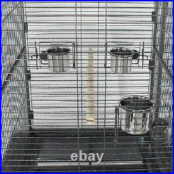 68 Large Bird Pet Cage 3 Doors Large Play Top Parrot Finch Cage Macaw Cockatoo