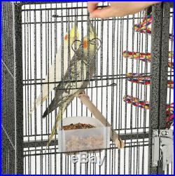 69'' Large Bird Parrot Cage Cockatiel Conure Cacique Pionus WithStand & Two Doors