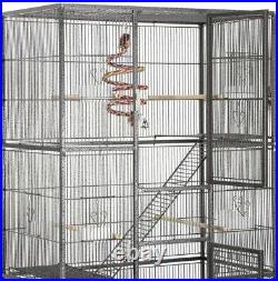 69 inch Extra Large Bird Cage for Mid-Sized Parrots Cockatiels Conures Parakeets