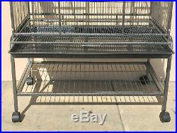 76 LARGE Stackable Double Bird Cockatiel Sugar Glider Wrought Iron Cage 279