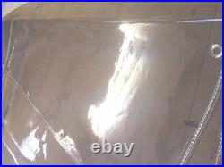7FT x 6FT BIRD AVIARY EYELETTED CLEAR PVC ROT PROOF CURTAIN CRYSTAL CLEAR