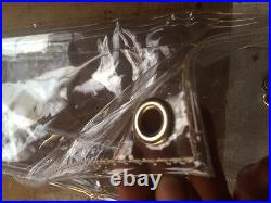 8FT x 6FT BIRD AVIARY EYELETTED CLEAR PVC ROT PROOF CURTAIN CRYSTAL CLEAR