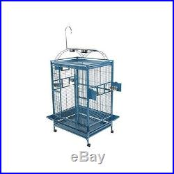 A&E 48x36 Playtop Cage with 1 Bar Spacing 8004836BLACK Bird Cage NEW