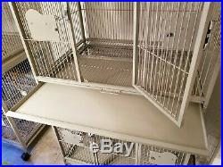 A & E Double Stack Bird Cage Large 40x30 Platinum/Grey color