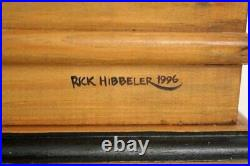 Amazing Wooden Hand Crafted Bird Cage Hand Signed Rick Hibbeler 1996