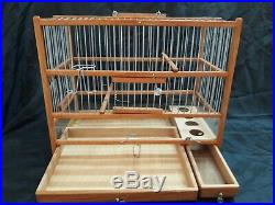 Amazing Wooden Hand Crafted Bird Cage Slide Out Tray, Plexiglas