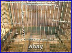 Antique 2 Story Large Victorian Spired Dome Bird Cage EXLNT CONDITION Blue Paint