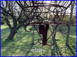 Antique Bird Cage Iron Ornate Black Victorian Dome Vintage hanging scrolled