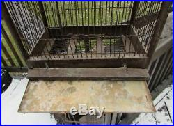 Antique Vintage 2 two Story Large Victorian Bird Cage Excellent Condition