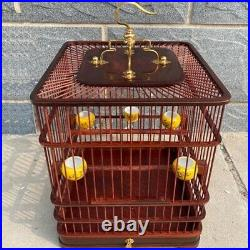 Asian Bird Cage Solid Rosewood Chinese Wooden Pet Nest Home 26x26x30CM
