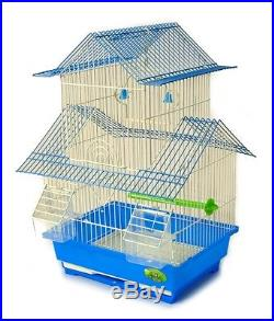 BIRD CAGE House Style Starter Kit, Swing Perch Feeders Two Story New